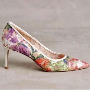Bettye Muller Astor Floral Heels Anthropologie